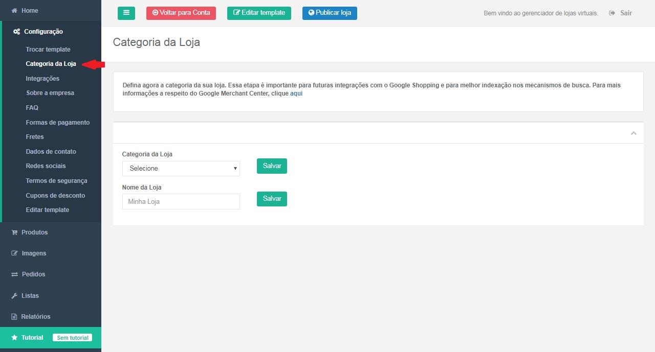 1875cb016b6f37 Loja Virtual – Configuração – Trocar Template e Categoria da Loja ...