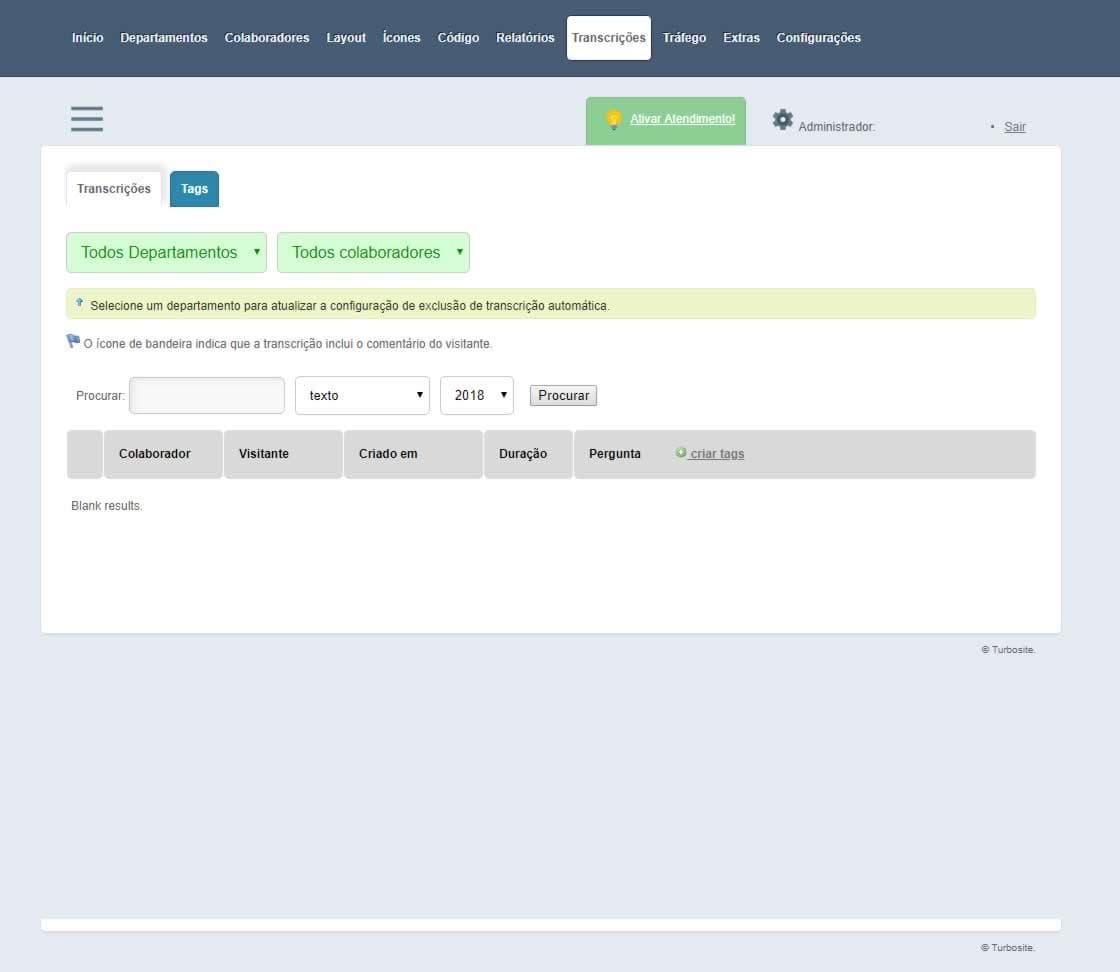 Turbosite Atendimento Online Transcrição das Conversas