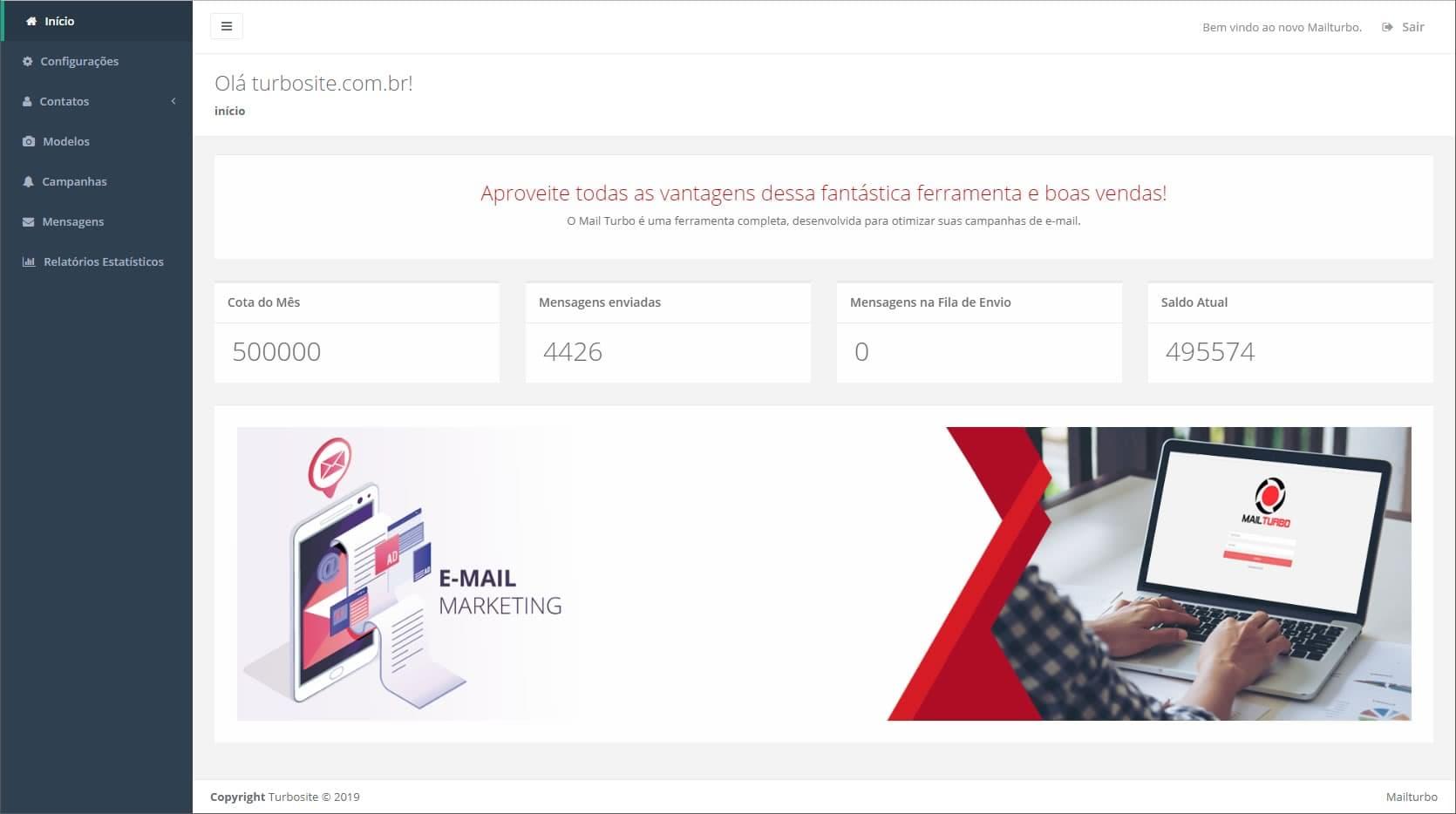 Turbosite E-mail Marketing Administração