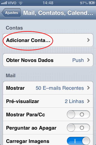 Tutorial Apple, como configura e-mail no iPod, iPad e iPhone