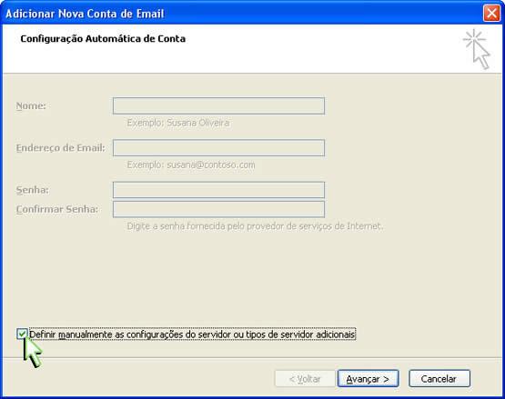 Configurando email