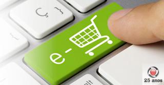 Vendas totais caem enquanto o e-commerce tem crescimento recorde